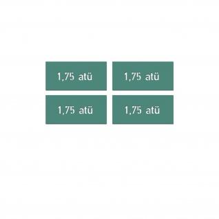 Lackierschablonenaufkleber Reifendruck Luftdruck Krad 4x 1, 7x6, 5cm A5565