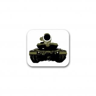Aufkleber/Sticker 2 A6M Minenschutz Panzer Bataillon Leo Leopard 8x7cm A2588