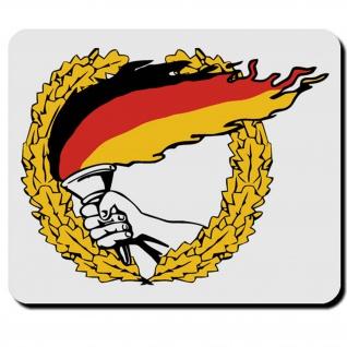 Deutschland Flagge Fahne Land BRD Schwarz Rot Gold Fackellauf Mauspad PC #16584