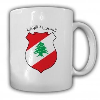 Libanon Wappen Emblem Libanesische Republik - Tasse #13681