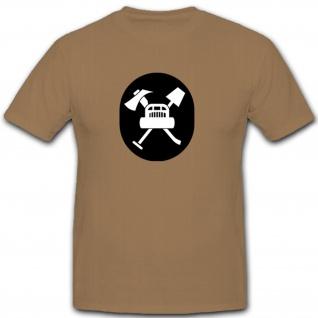 Pioniere und Flugplatzwachdienst Abzeichen NVA DDR Militär Emblem T Shirt #7933
