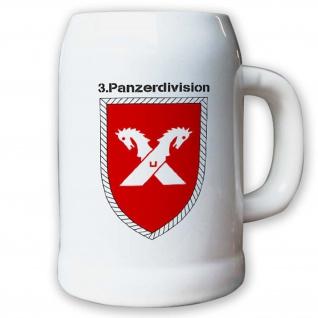 Krug / Bierkrug 0, 5l -Bierkrug 3. Panzerdivision_Bundeswehr PzDiv Wappen #12940