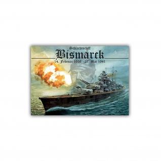 Aufkleber/Sticker Bismarck Schlachtschiff Marine 10x7cm #A969