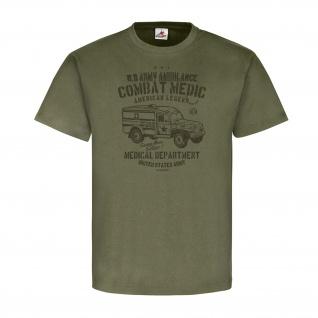 US Army Ambulance WW2 USA Amerika GI Armee - T Shirt #25796