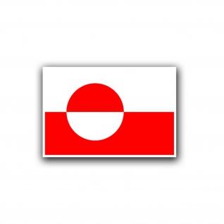 Aufkleber/Sticker Grönland Flagge Fahne Grünland Kalaallit Nunaat 5x7cm A754