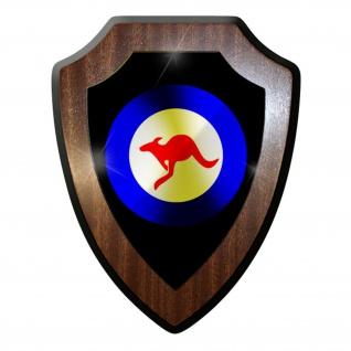 Wappenschild / Wandschild - Australia Kokarde Mit Kangaroo Streitkräfte #9729