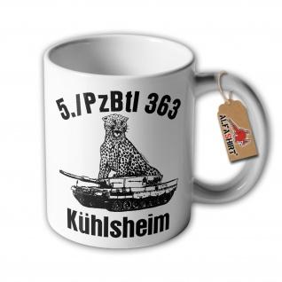 Tasse 5 PzBtl 363 Kühlsheim Leopard 2A4 Panzer Leo Bundeswehr Raubkatze #34590