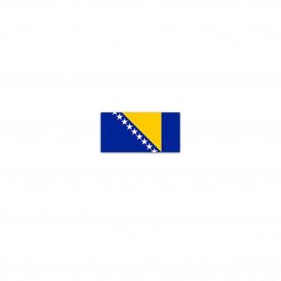 Aufkleber/Sticker Bosnien und Herzegowina Flaggen Bosna Bosnisch 7x3, 5cm A2992