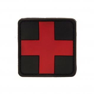 Sanitäter Patch Ersthelfer Arzt Airsoft Erstehilfe Emblem 3D Kreuz 5x5cm #20303