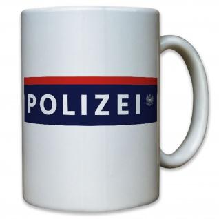 Polizei Österreich Beamte Flagge Fahne Flag Wappen Abzeichen - Tasse #12928