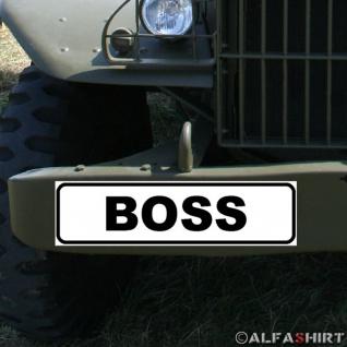 Magnetschild Boss Chef Arbeitgeber Fahrzeug Bundeswehr Firma Club #A328
