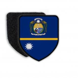 Patch Flag of Nauru Flagge Staat Land Landesflagge Wappen Zeichen Aufnäher#21340
