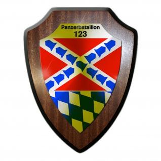 Wappenschild PzBtl 123 Panzerbataillon Bundeswehr Wappen Abzeichen Amberg #22320
