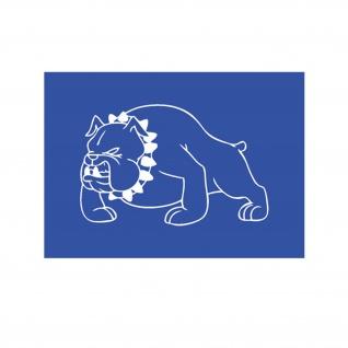 Lackierschalonen Aufkleber British Bulldog Bulldogge Hund Militär 15x10cm #A2137