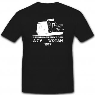 WK Panzerung Militär Heer Stpzkrw A7v Dmg T Shirt #1844
