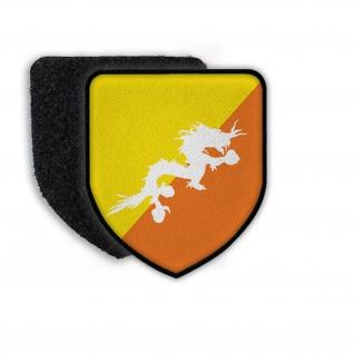 Patch Flagge von Butan Land Wappen Nation Staat Flagge Aufnäher Zeichen #21459
