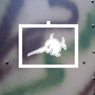 Aufkleber/Sticker Schwertfisch Taktisches Zeichen Turmwappen 18x14cm #A132 - Vorschau