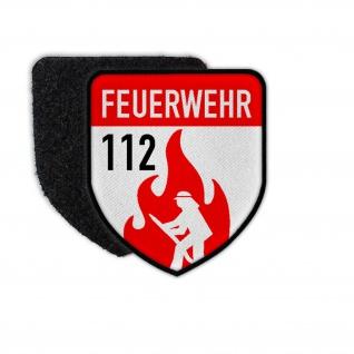 Patch Feuerwehr 112 Abzeichen Wappen Freiwillige Berufs Retter Gemeinde #31069