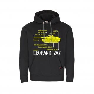 Hoodie Leo 2A7 Leopard Bundeswehr Panzer Technische Daten Bataillon #32587