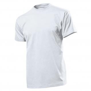 T-Shirt weiß Herren Rundhals 100% Ringspinn-Baumwolle Jersey 185 g-m² #12824