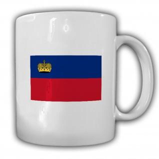 Fürstentum Liechtenstein Fahne Flagge - Kaffee Becher Tasse #13688