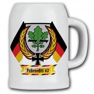 Bierkrug PzGrenBtl 62 Panzergrenadier Bataillon Dran Drauf Drüber DZE #11852