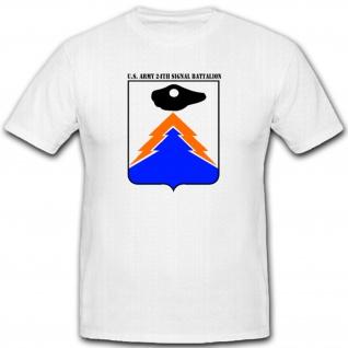 US Army 24th SigBtl 1 Signal Bataillon Amerika America Wappen - T Shirt #1674
