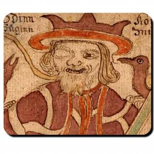 Hugin Munin Odin Rabengott Sinn Gedanke Begleiter Hrafnáss Treu Mauspad #16123