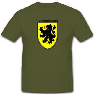 10 PzDiv Panzerdivision Wappen Emblem Abzeichen - T Shirt #3984