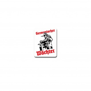 Germanischer Wächter Aufkleber Sticker Germanen Wikinger Heimdall 5x7cm#A4217