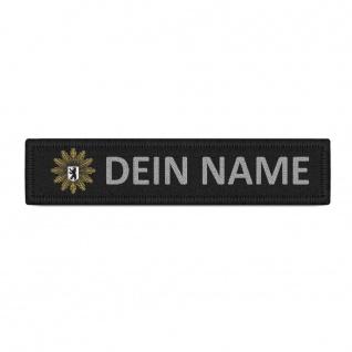 Patch Namensschild Polizei Berlin Klett Streifen personalisiert mit Namen #38352