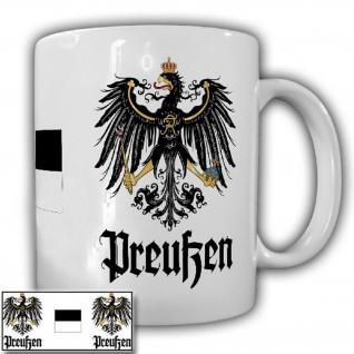 Preußen Fahne Adler Wappen Emblem scharz weiß Preußenadler Preuße - Tasse #18703