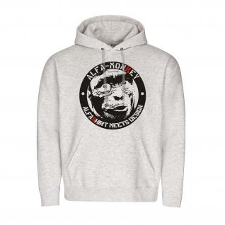 AlfaMonkey Meets Design Alfashirt Fun Spaß Humor Pulli Style Hoodie #23927