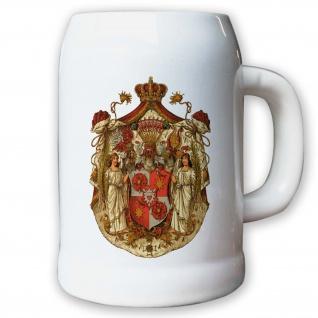 Krug / Bierkrug 0, 5l - Fürstentum Schaumburg-Lippe Adel historisch #9433