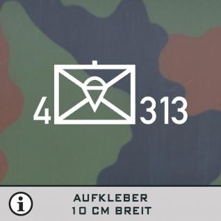 Taktisches Zeichen Bundeswehr für Kübel VW Iltis Wolf Aufkleber 10cm breit #TZ-2