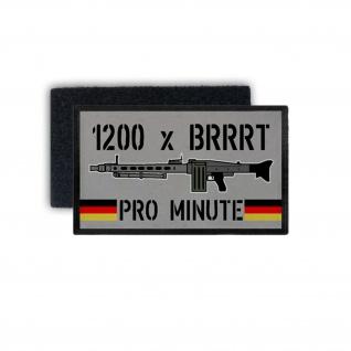 Patch 1200 x BRRRT BW MG3 Pro Minute Maschinengewehr Bundeswehr 7, 5x4, 5cm #32214