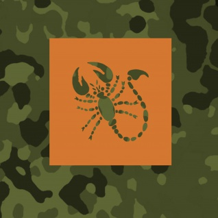 Lackierschablonen Aufkleber Scorpion Sonderkommando Dora Wappen 10x9, 5cm A644