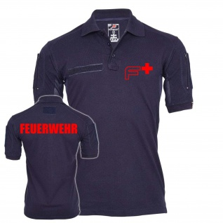 Tactical Polo Feuerwehr Einsatz F Logo Mann Freiwillife Polo-Hemd-Shirt 24363