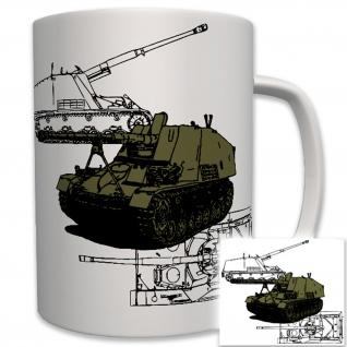 SdKfz 164 Panzer Panzerjäger Nashorn Wh Militär - Tasse Becher Kaffee #6207