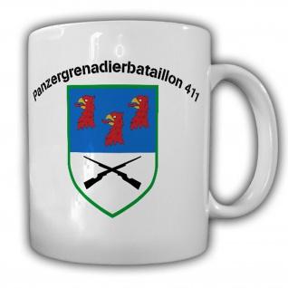 Panzergrenadierbataillon 411 PzGrenBtl Wappen Abzeichen Tasse #15321