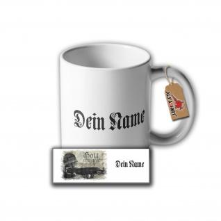Tasse Gott mit uns Dein Name Personalisiert Soldat MG42 Deutschland #32507