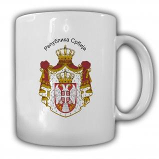 Republik Serbien Wappen Emblem Kaffee Becher Tasse #13893