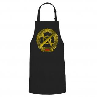 Instandsetzung InstBtl Militär Barettabzeichen Kochschürze Grillschürze #16538