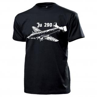 Ju 290 Flugzeug Luftwaffe Transporter Fernaufklärer Seeaufklärer T Shirt #14061