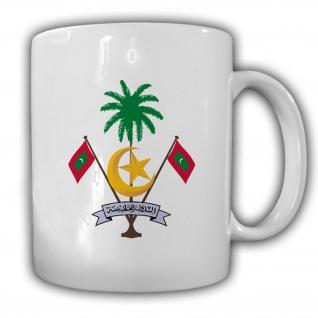 Malediven Wappen Emblem Republik Malediven Kaffee Tasse #13737