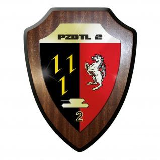 Wappenschild / Wandschild / Wappen - PzBtl 2 Panzer Bataillon Emblem #11638