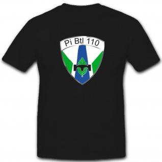 Pibtl110 Pionier Bataillon 110 Deutsche Bundeswehr Wappen - T Shirt #4104