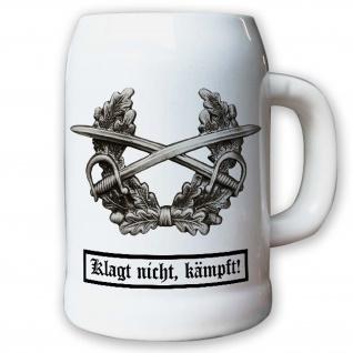 Krug / Bierkrug 0, 5l - Barettabezeichen Heer Mützenkranz Armee Klagt #11816