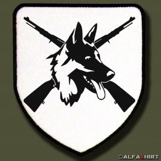 Patch / Aufnäher - Heimatschutz Aufnäher-Schäferhund DSH 98K Gewehr #8250