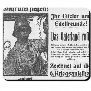 Eifel Feldpost Wk Soldat 1914 Fritz Erler Schlesien Helft Siegen Mauspad #16186